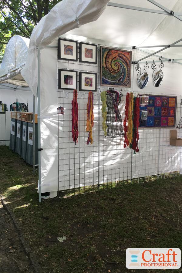 photos of art show displays