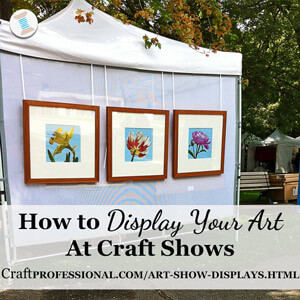 Craft display booth ideas and photos for How to set up a booth at a craft show