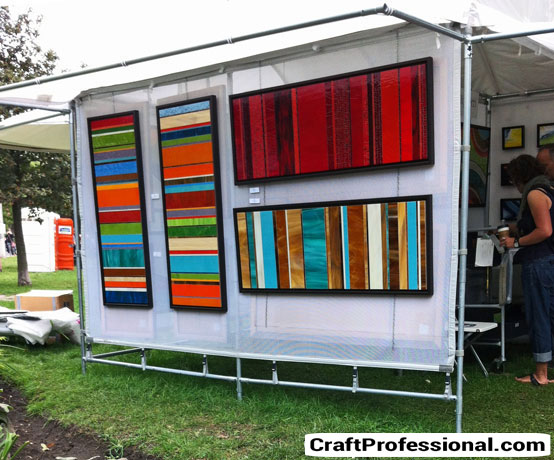 Photos of art show displays for Used craft fair tents