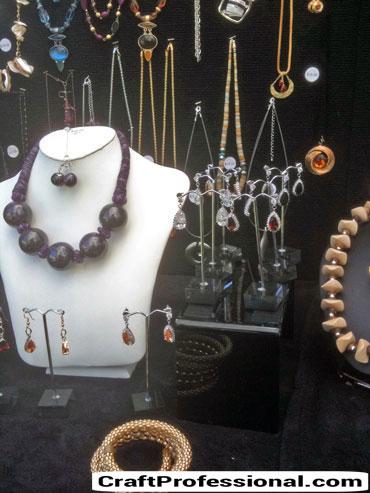 Jewelry display on black