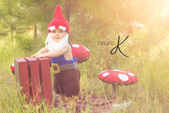 Baby gnome costume knitting pattern by Briana K Crochet