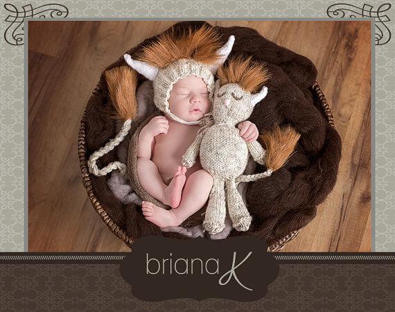 Baby monster knitting pattern by Briana K Crochet
