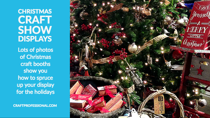 Christmas craft show display