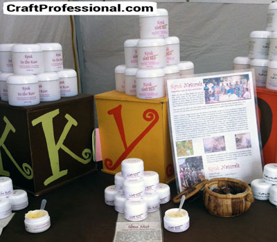 Handmade Beauty Product Display