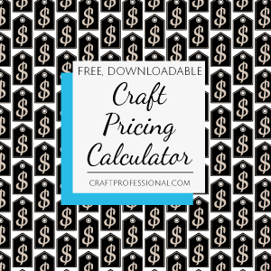 Price tag pattern with text overlay Free, downloadable craft pricing calculator