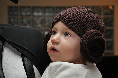 Princess Leia hair hat knitting pattern
