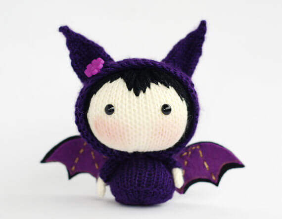 Bat doll decoration knitting pattern by Deniza's Toys Joys