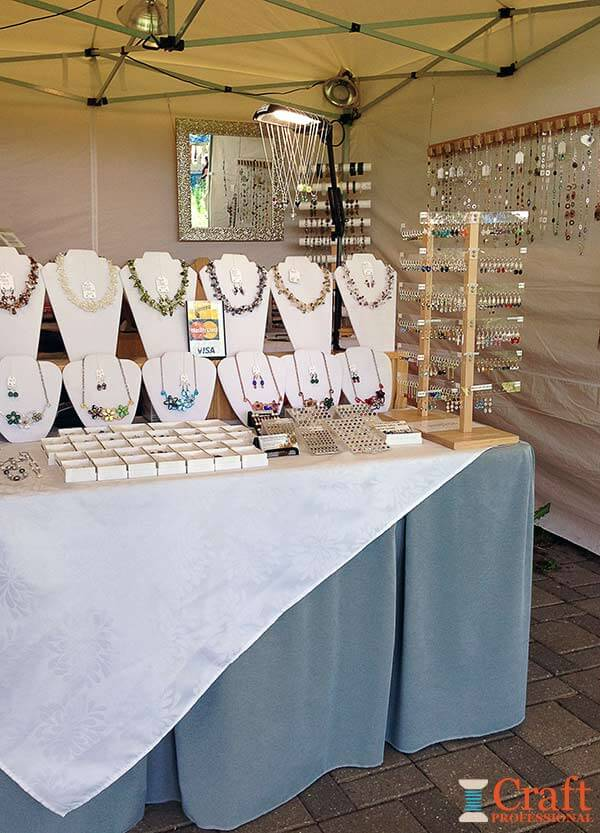 jewelry display ideas for craft shows craft booth design using portable tables 7802