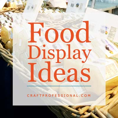 Display of honey jars with text overlay Food Display Ideas