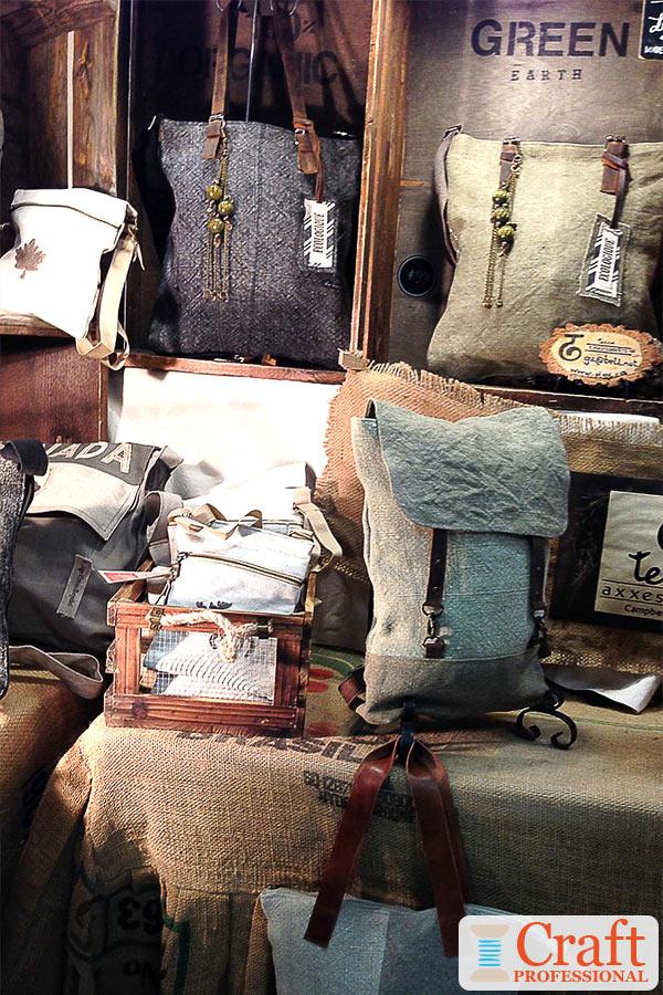 Rustic Handbag Display