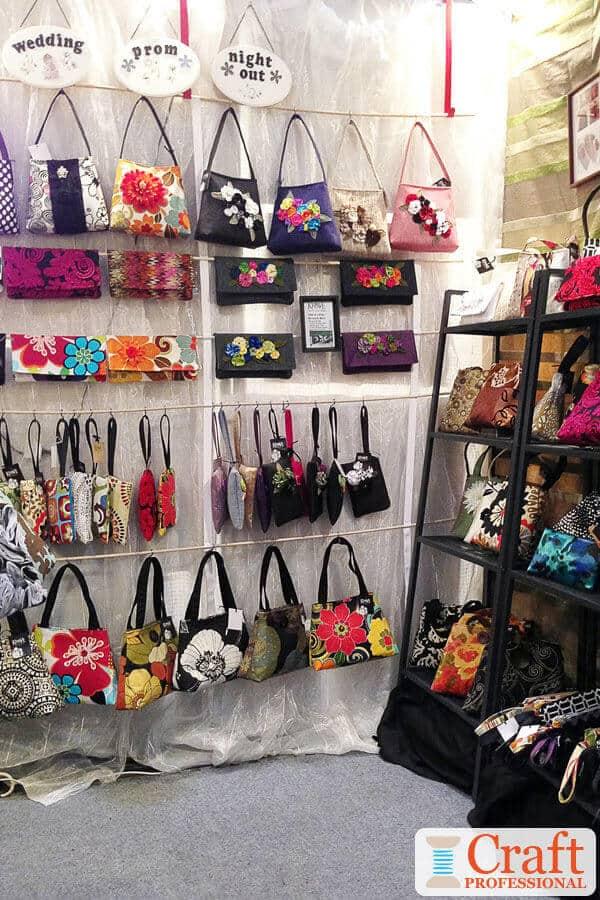 Handmade Purses at a Craft Fair