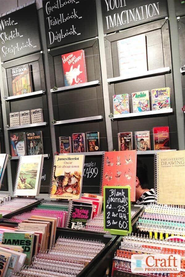 Handmade Journals Display