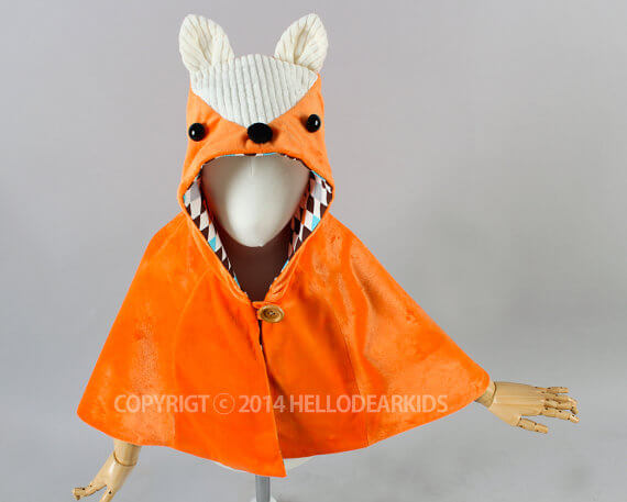 Fox cape pattern by Hello Dear Kids