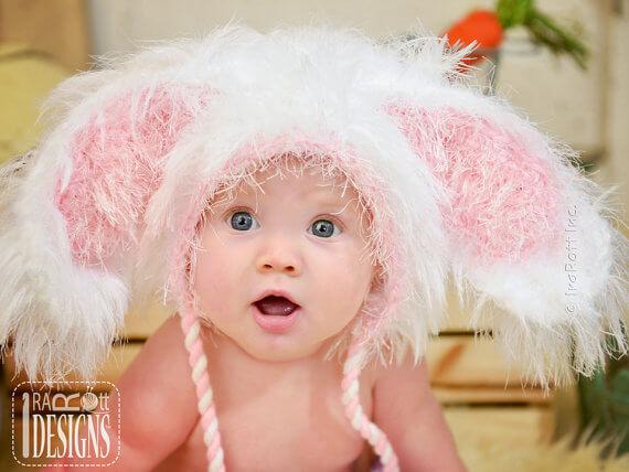 Baby bunny hat crochet pattern by Irarott Patterns