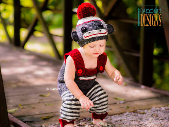 Sock monkey costume pattern by IraRott Patterns