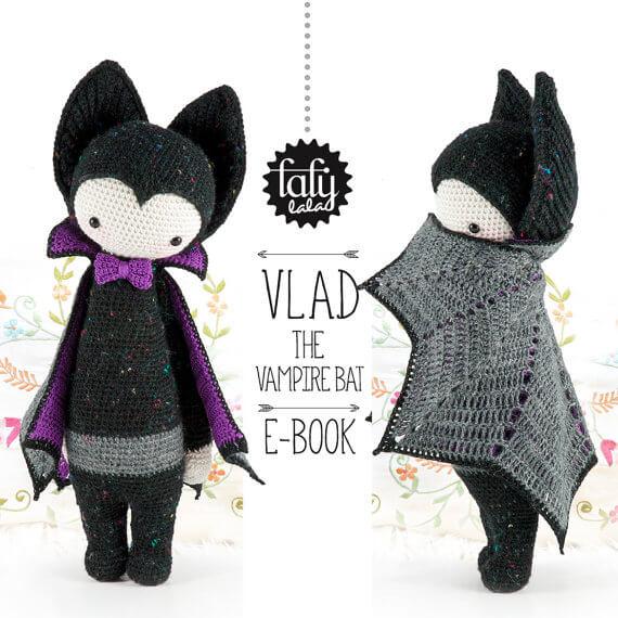 Vampire amigurumi crochet pattern by Lalylala