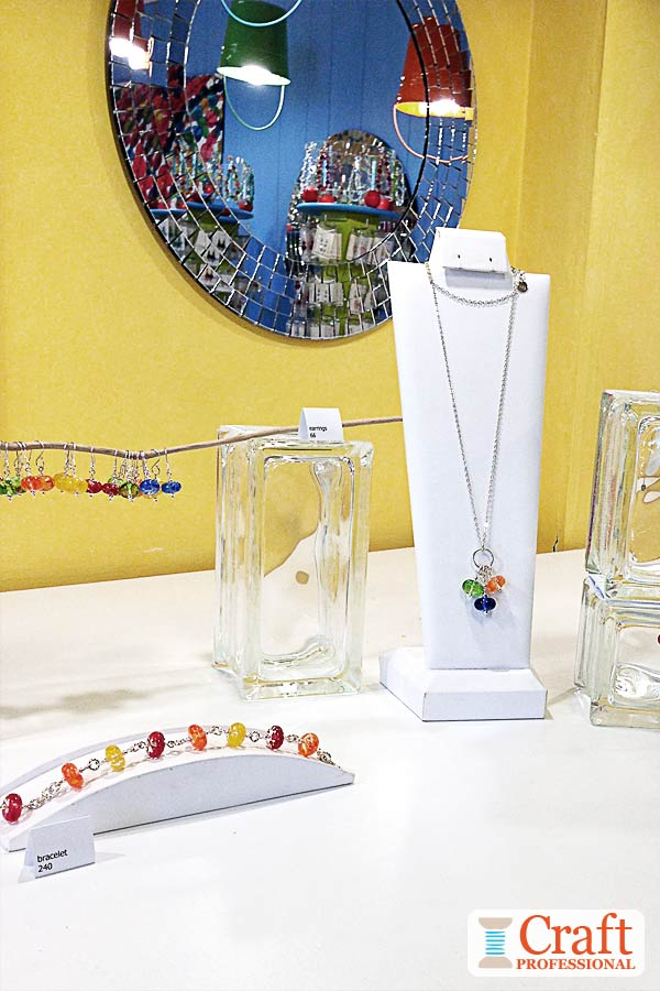 Handmade jewelry retail display