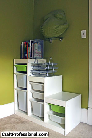 Lots of craft storage in this IKEA cabinet