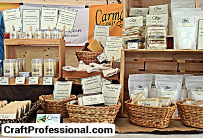 Natural colored soap booth