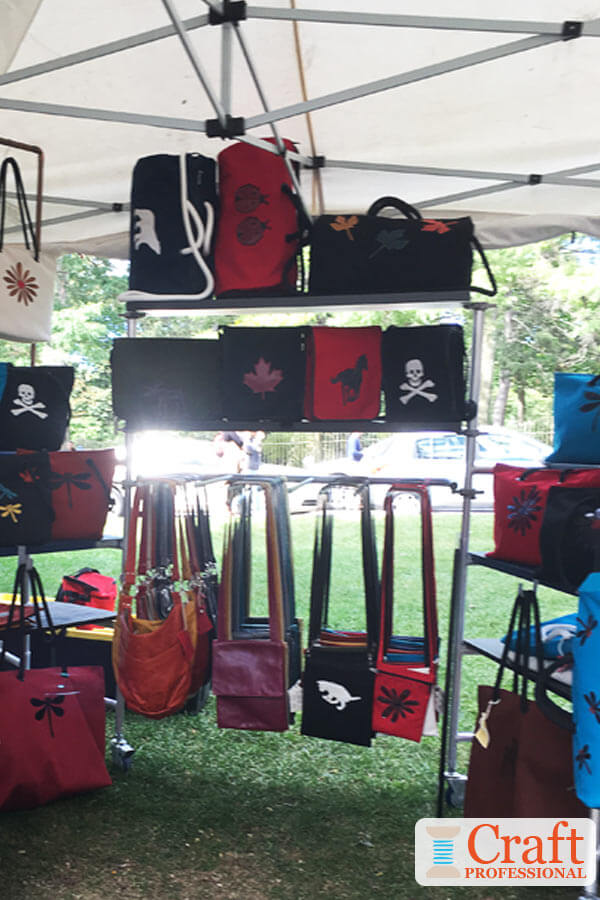 Handbags on Display