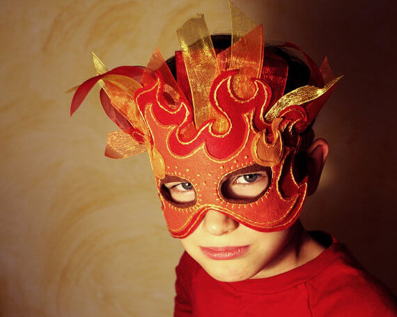 Fire mask pattern by Oxeye Daisey