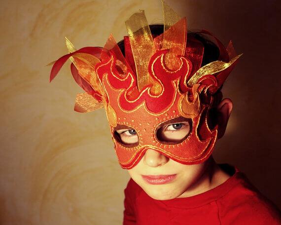 Fire mask pattern by Oxeye Daisey