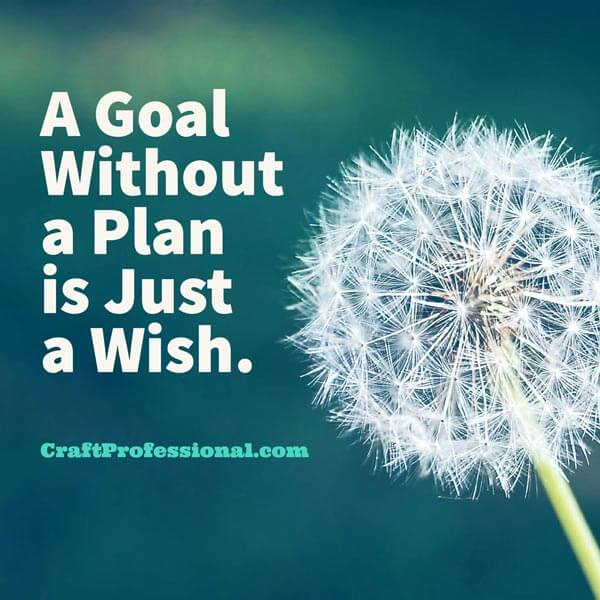 Dandelion with text overlay A goal without a plan is just a wish