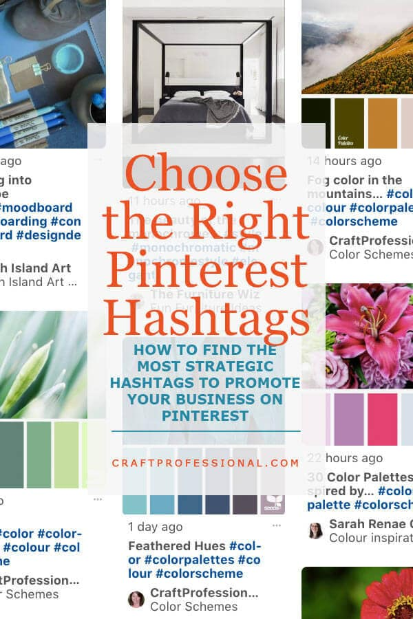 Pinterest search results with text overlay - Choose the Right Pinterest Hashtags