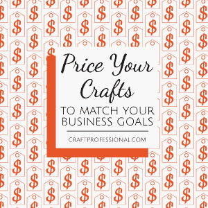 Price tag pattern with text overlay Price your crafts to match your business goals