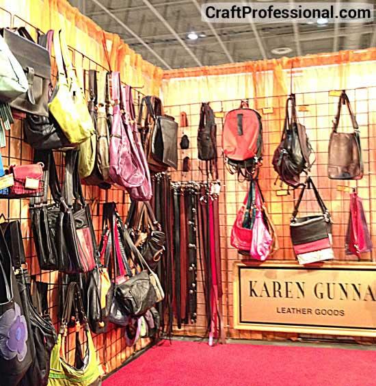 Handmade purse booth