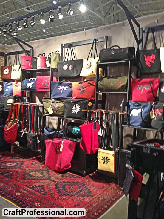Indoor craft fair purse booth