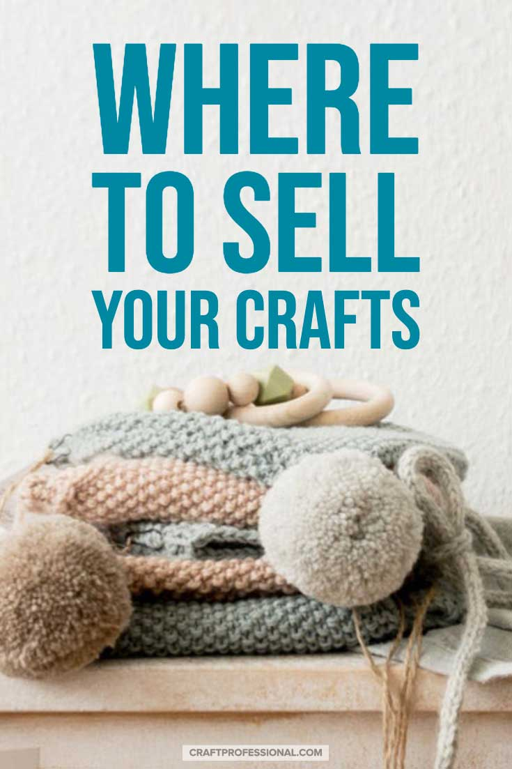 Hand knit blankets with text overlay - Where to sell your crafts