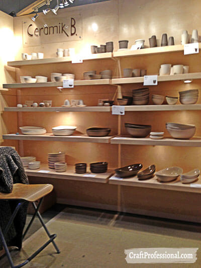 Neutral coloured craft booth.
