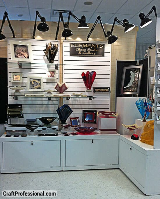 9 Wall Storage Ideas That You Need To Try: Slat Walls For Your Craft Booth