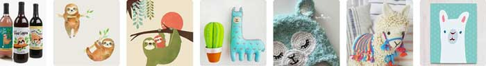 Sloths and llamas trend examples