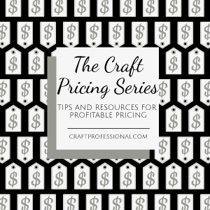 Lots of information about pricing your crafts.
