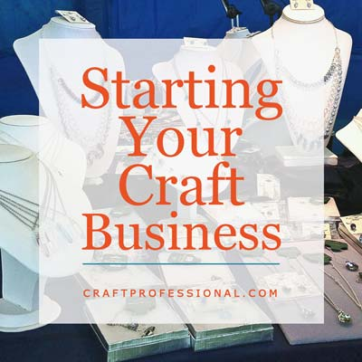 Weekly craft business challenge for Starting a small craft business from home