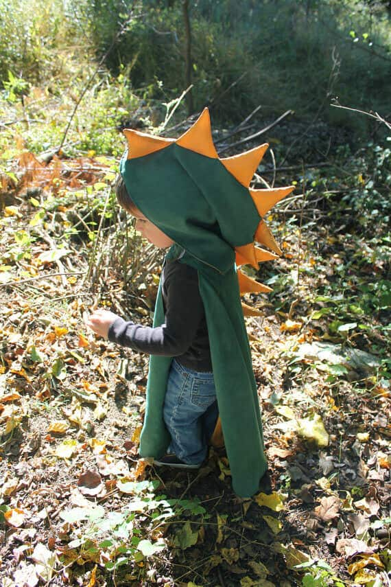Dinosaur cape pattern by Sticky Sugar Stitches
