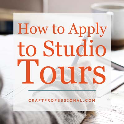 Applying to Artist Studio Tours