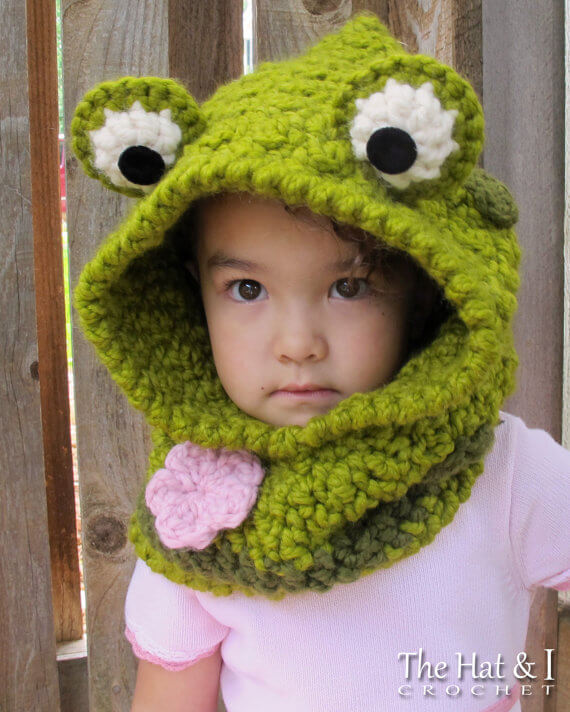 Frog hat crochet pattern by The Hat and I