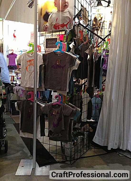Handmade children's clothing booth