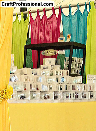 Pretty candle booth