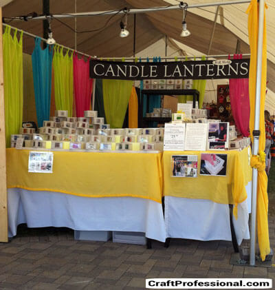 Bright candle booth