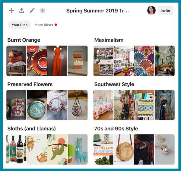 Etsy 2019 trend forecast collection on Pinterest