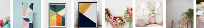 geometric decor trend examples