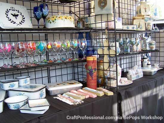 Gridwall display shelves