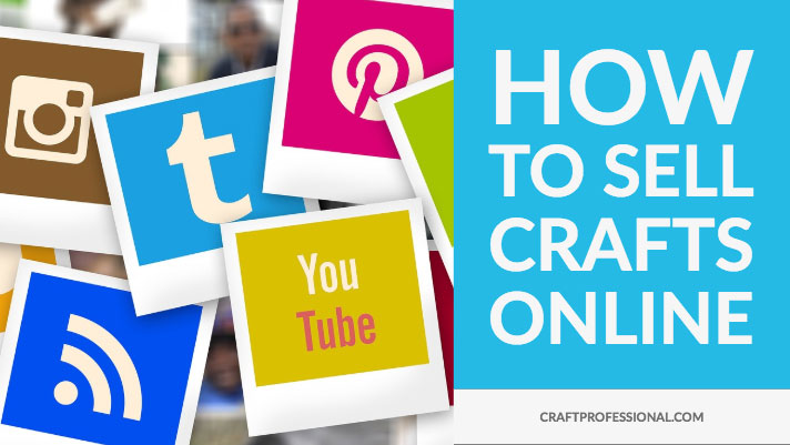 Social media logos with text how to sell crafts online