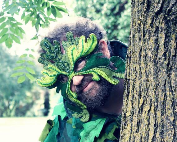 Gorgeous leaf mask pattern