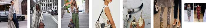 Snake print trend examples