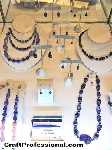Jewelry under glass